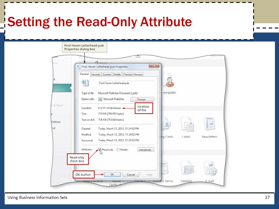 Setting the Read-Only Attribute
