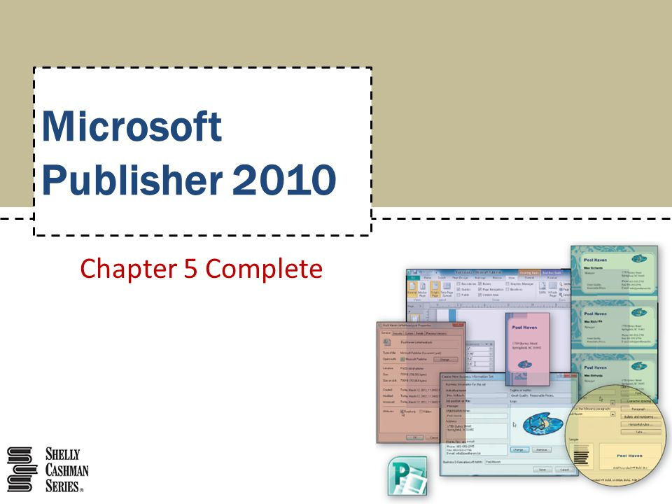 Microsoft Publisher 2010 Chapter 5 Complete
