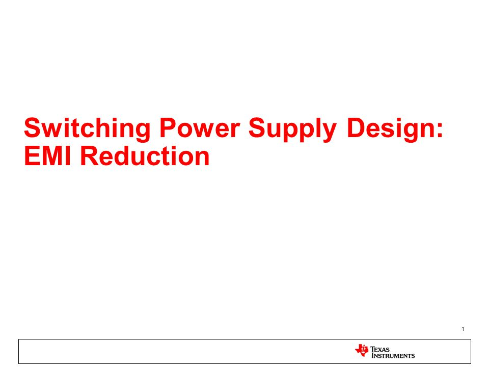 Switching Power Supply Design: EMI Reduction