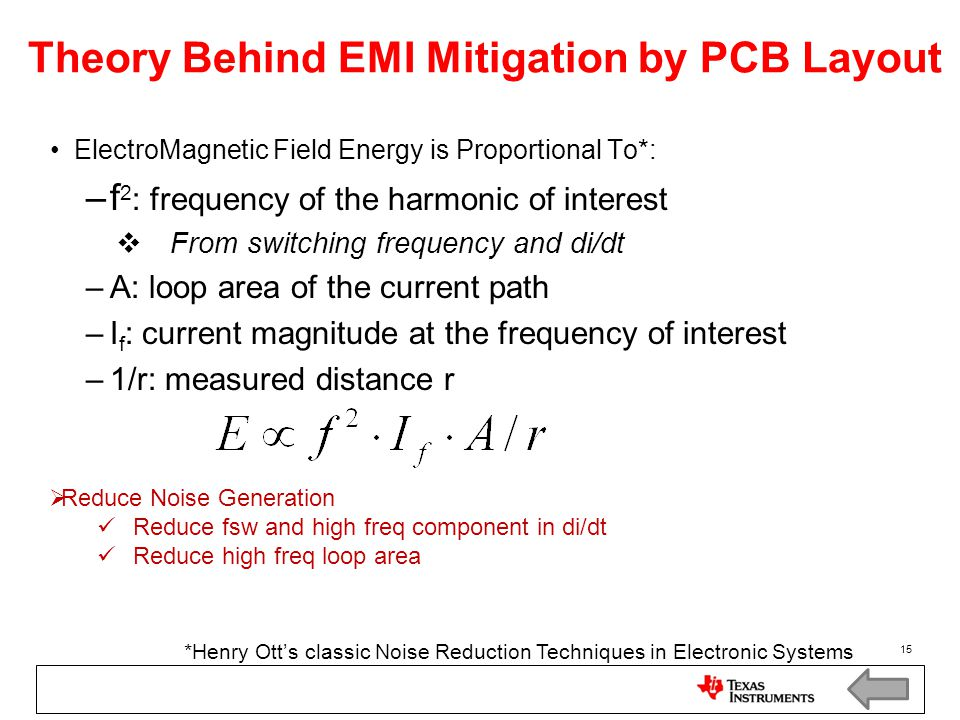 Theory Behind EMI Mitigation by PCB Layout