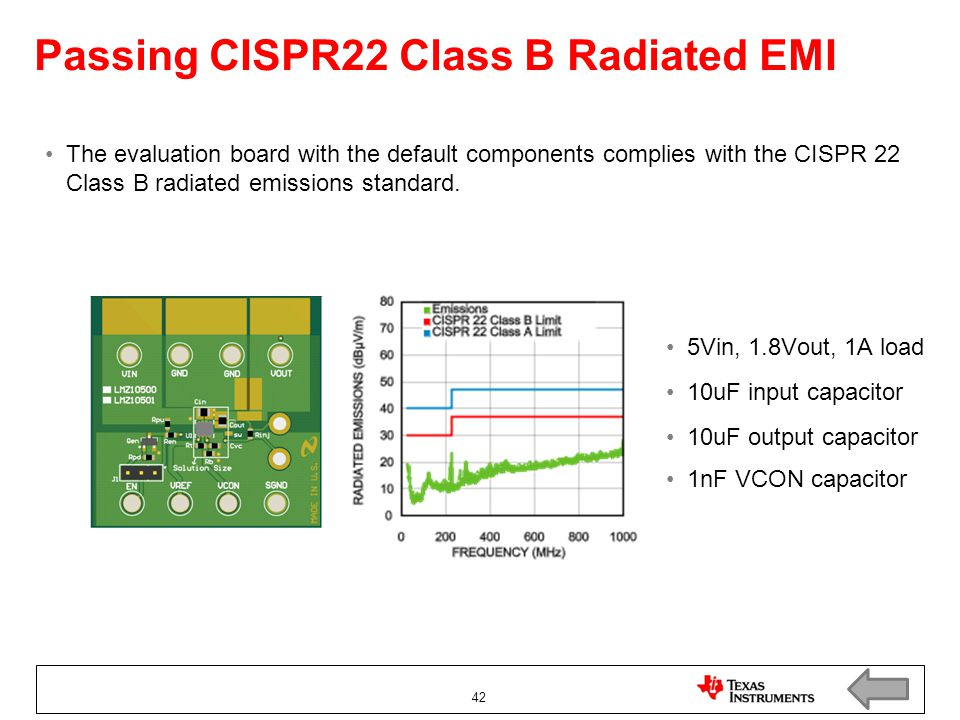 Passing CISPR22 Class B Radiated EMI