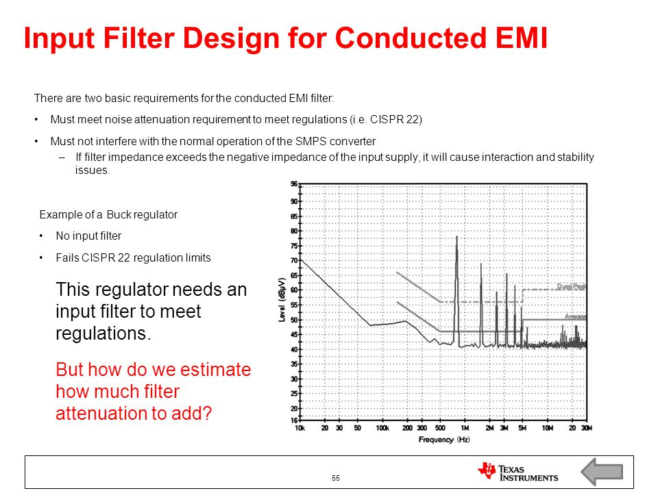 Input Filter Design for Conducted EMI