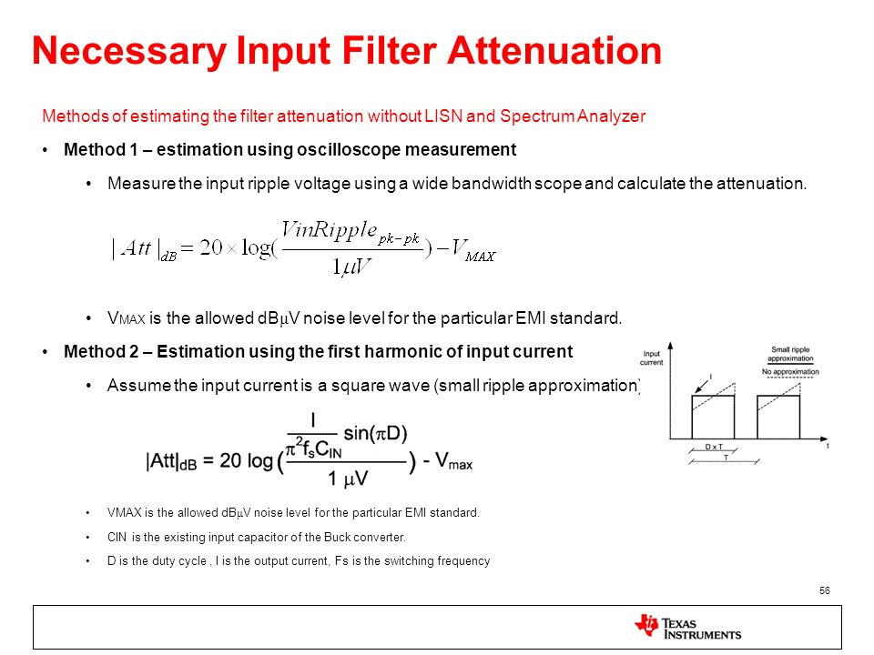 Necessary Input Filter Attenuation