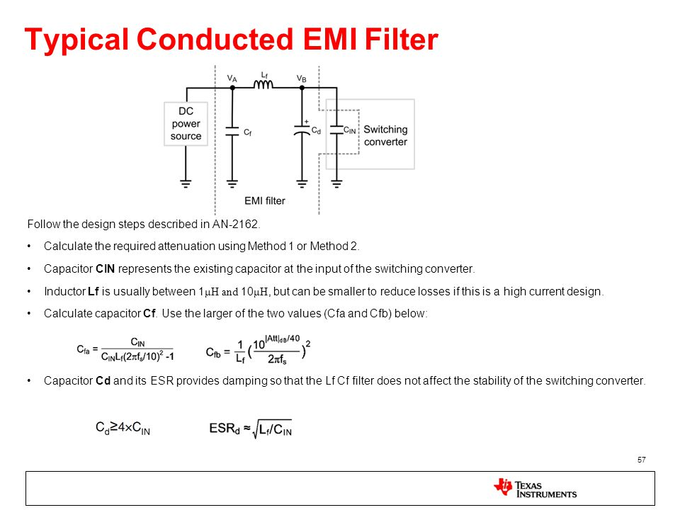 Typical Conducted EMI Filter