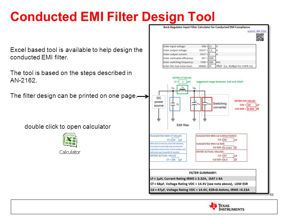 Conducted EMI Filter Design Tool