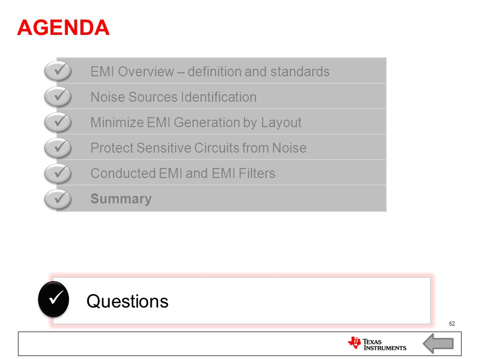 AGENDA   Questions EMI Overview – definition and standards