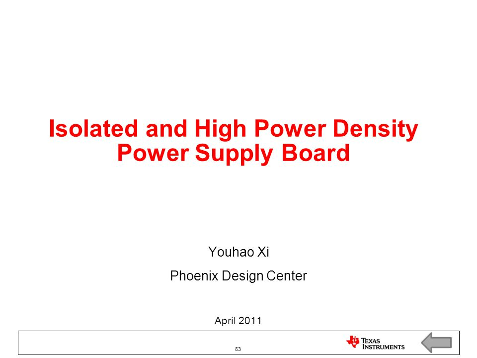 Isolated and High Power Density Power Supply Board