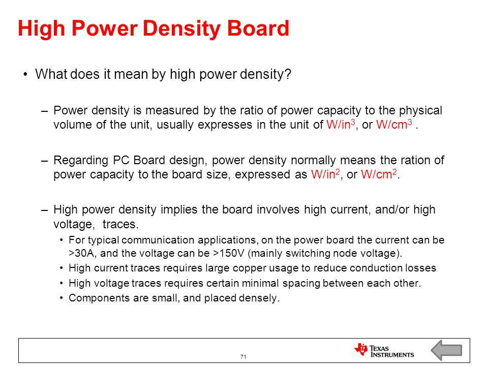 High Power Density Board
