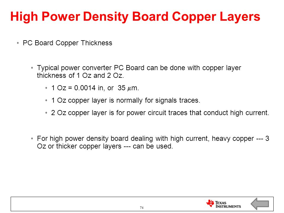 High Power Density Board Copper Layers