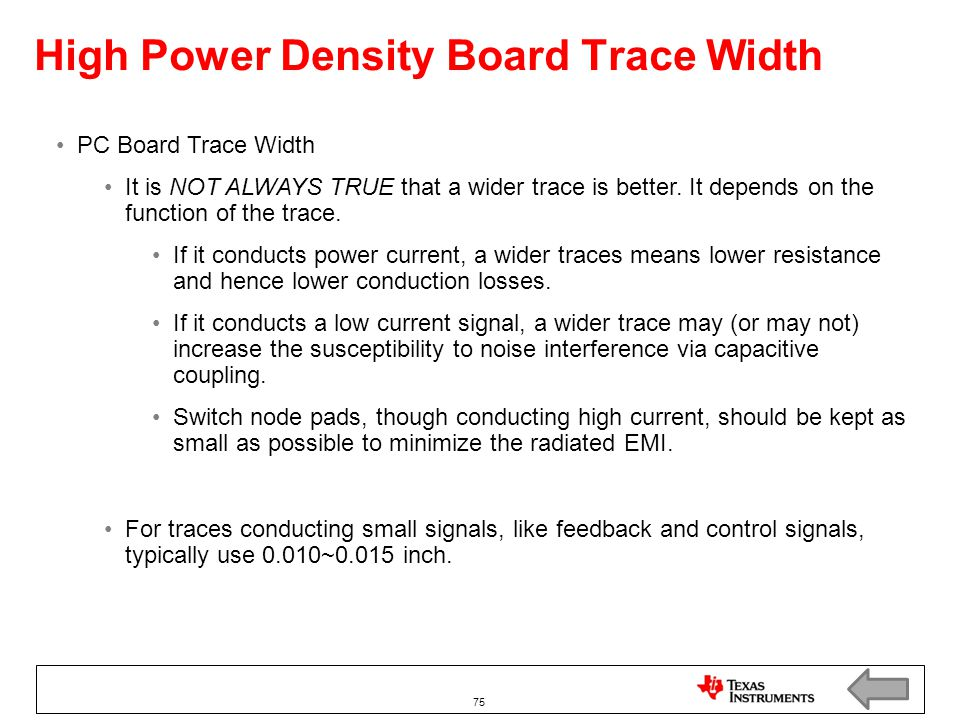 High Power Density Board Trace Width
