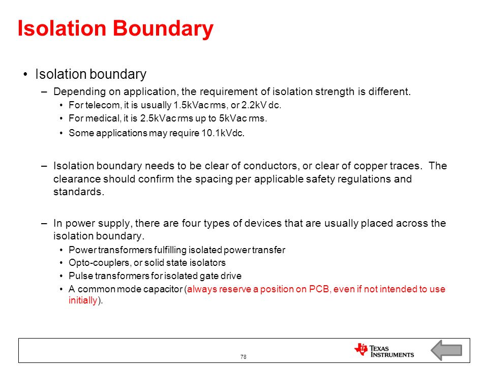 Isolation Boundary Isolation boundary