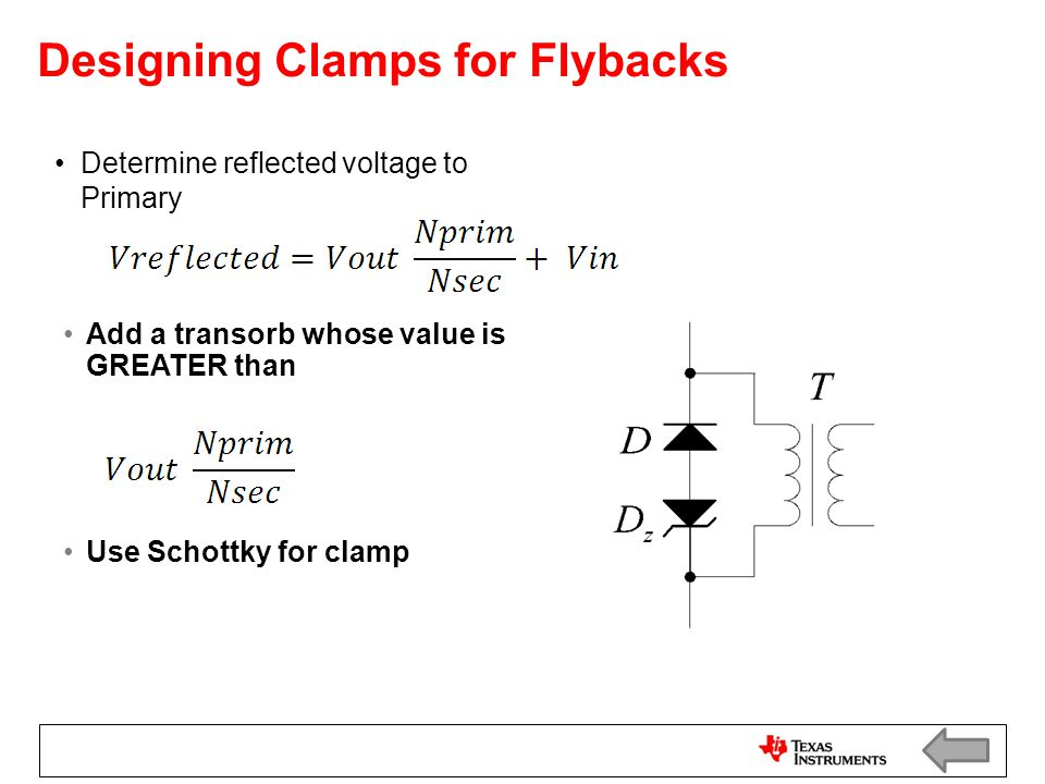 Designing Clamps for Flybacks