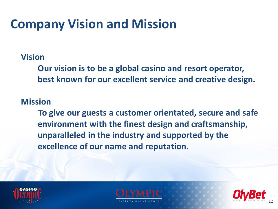 Olympic entertainment group ppt video online download for Vision industries group