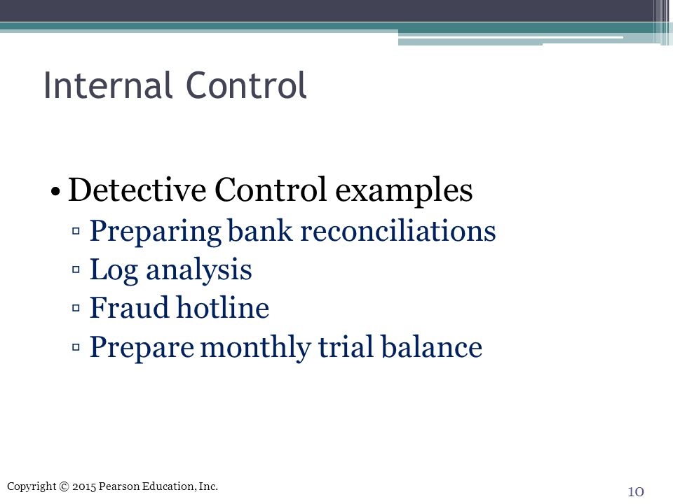 Internal Control Detective Control examples