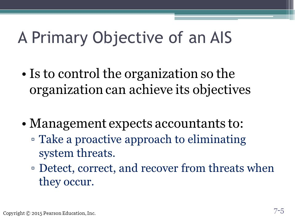 A Primary Objective of an AIS