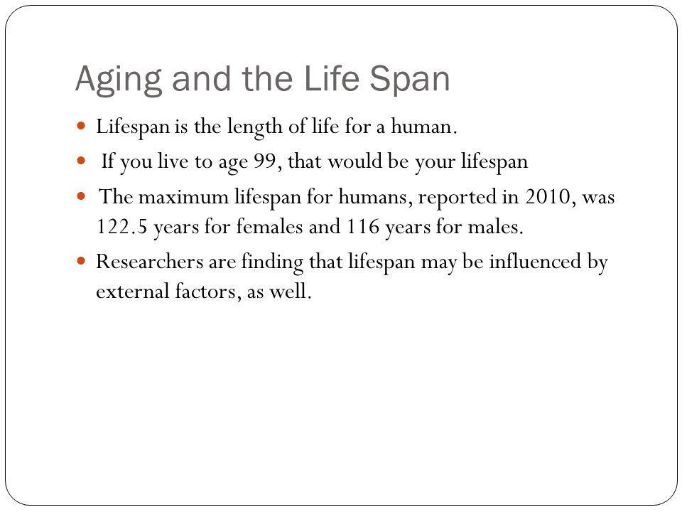 Aging well across the lifespan
