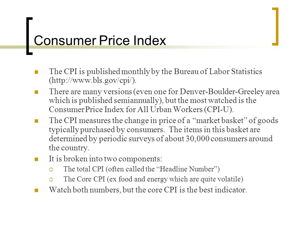 Economic and industry analysis ppt download - Bureau of labor statistics consumer price index ...