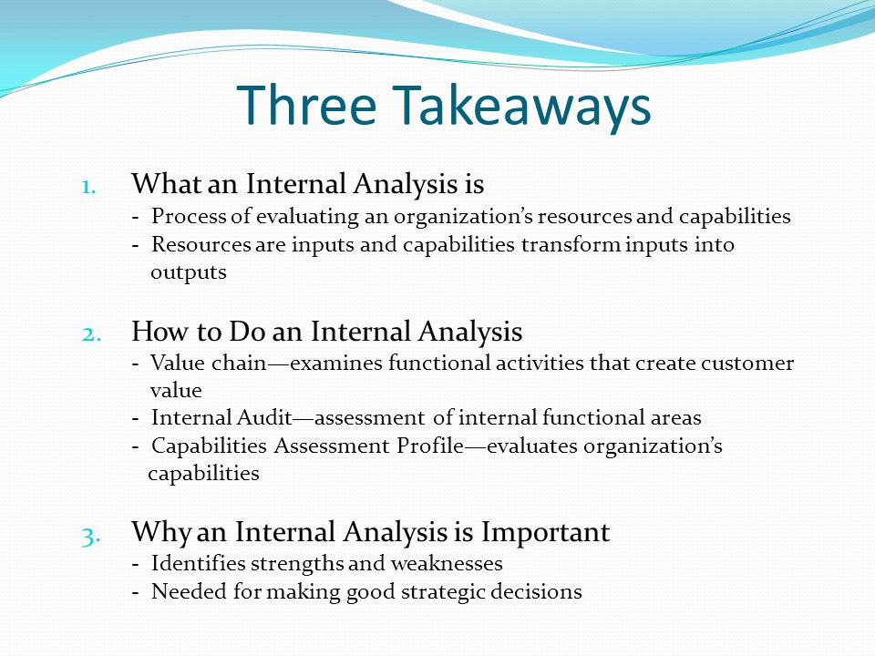 Internal & External Strategic Plan Development