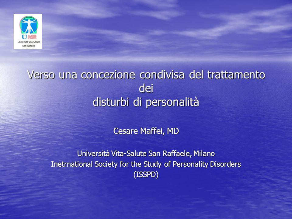 Verso una concezione condivisa del trattamento dei disturbi di personalità