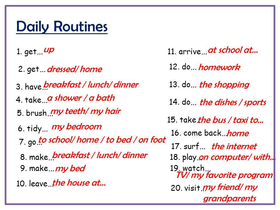 daily routine homework
