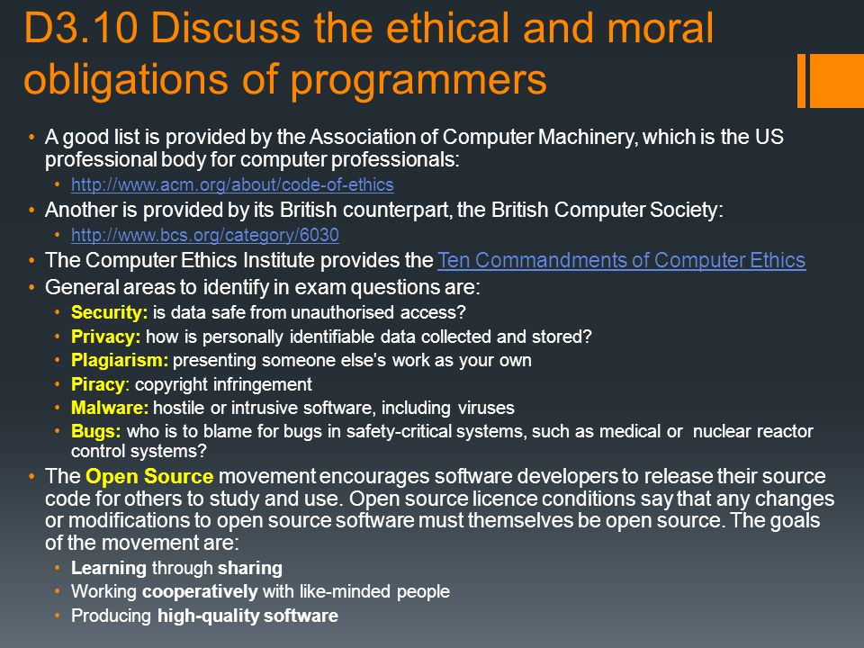 a discussion on the moral and ethical issues of computers This is #22 of an ongoing series of moral and ethical discussion starters from the case files of charis denison  computer because of the school sticker on the.