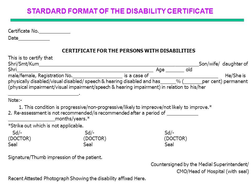 disability certificate format - Mersn.proforum.co