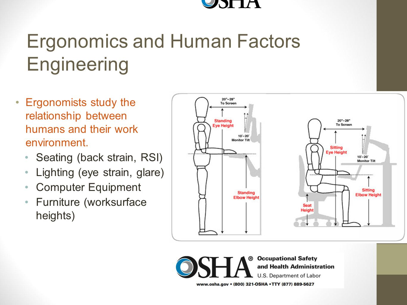 ergonomics is the study of relationship between quantity