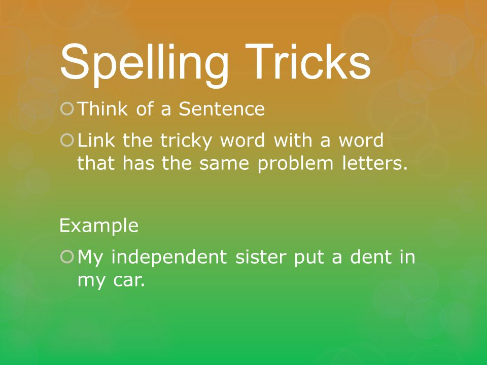 Spelling standard 6f ppt download for Use terrace in a sentence