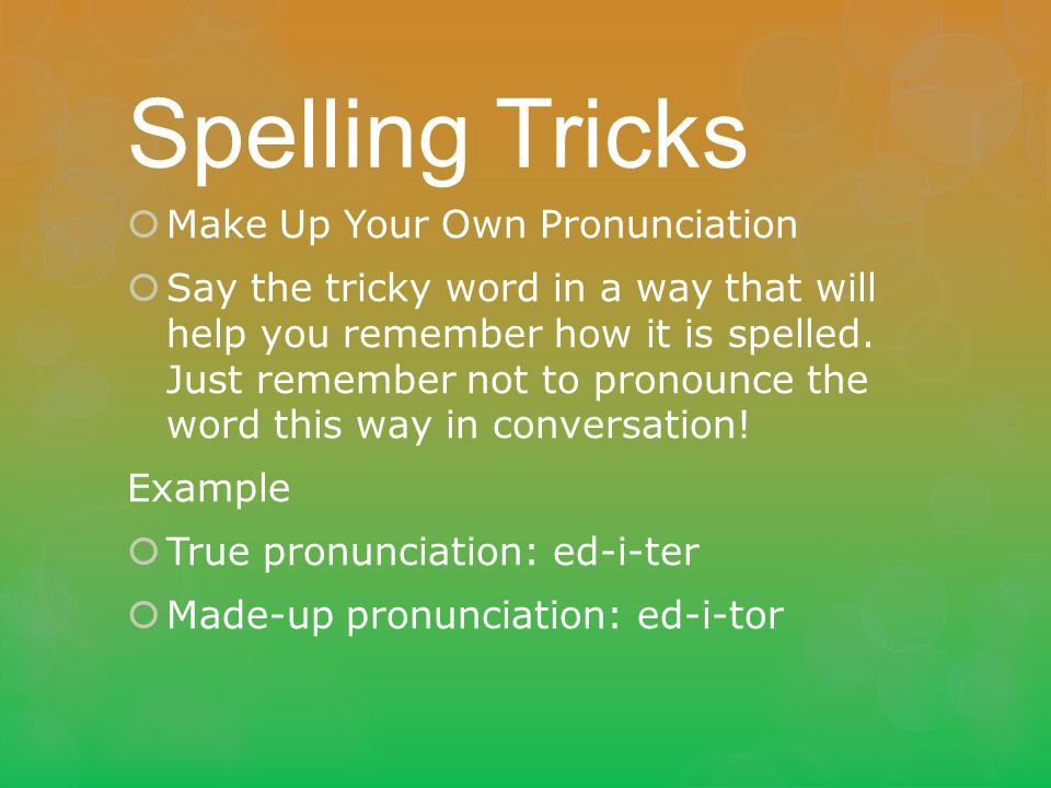 Spelling standard 6f ppt download for Terrace pronunciation