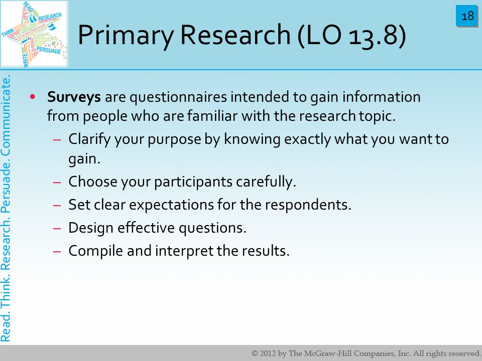 primary research questionnaires Why should i use questionnaires as part of my primary research •  questionnaires allow you to find out information such as facts, attitudes and  opinions.
