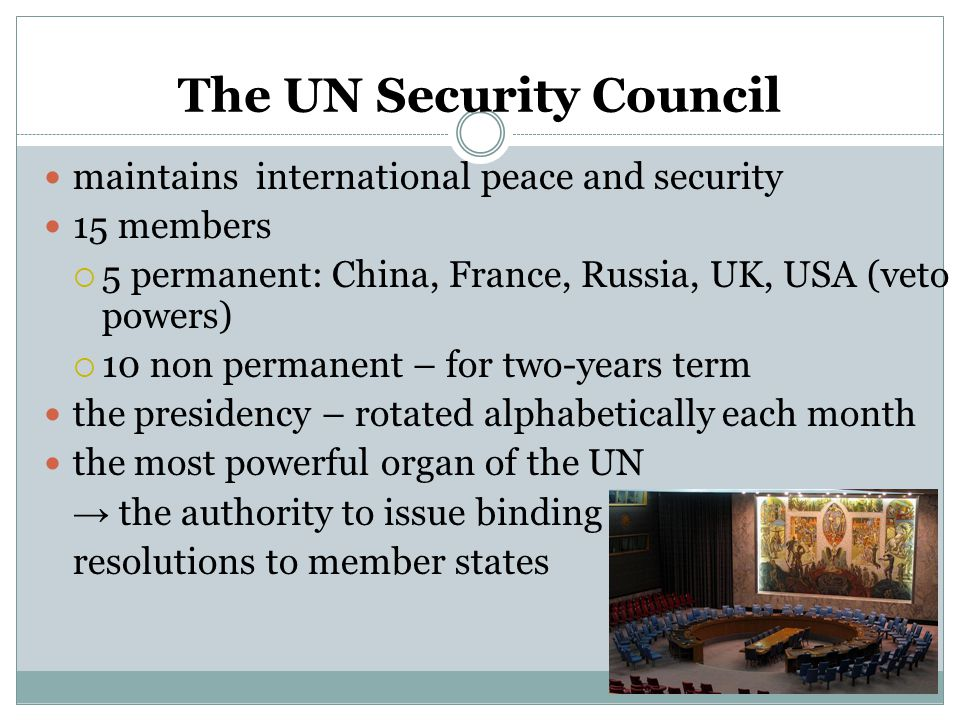 Principles of the security council and un peacekeeping
