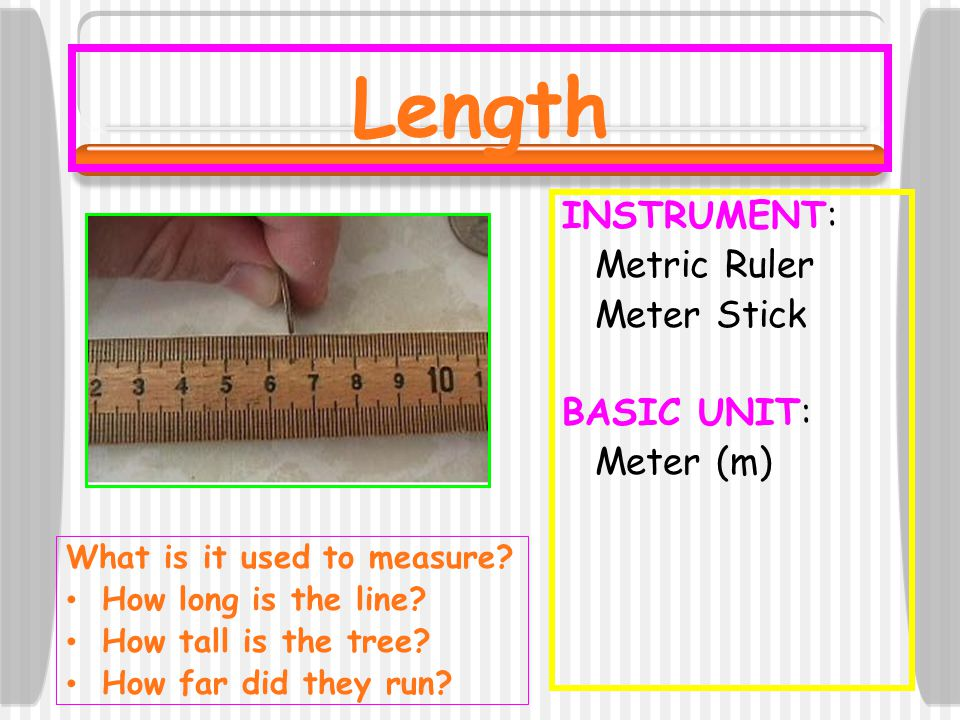 How Far Is A Meter : Do now answer the following questions in your journal
