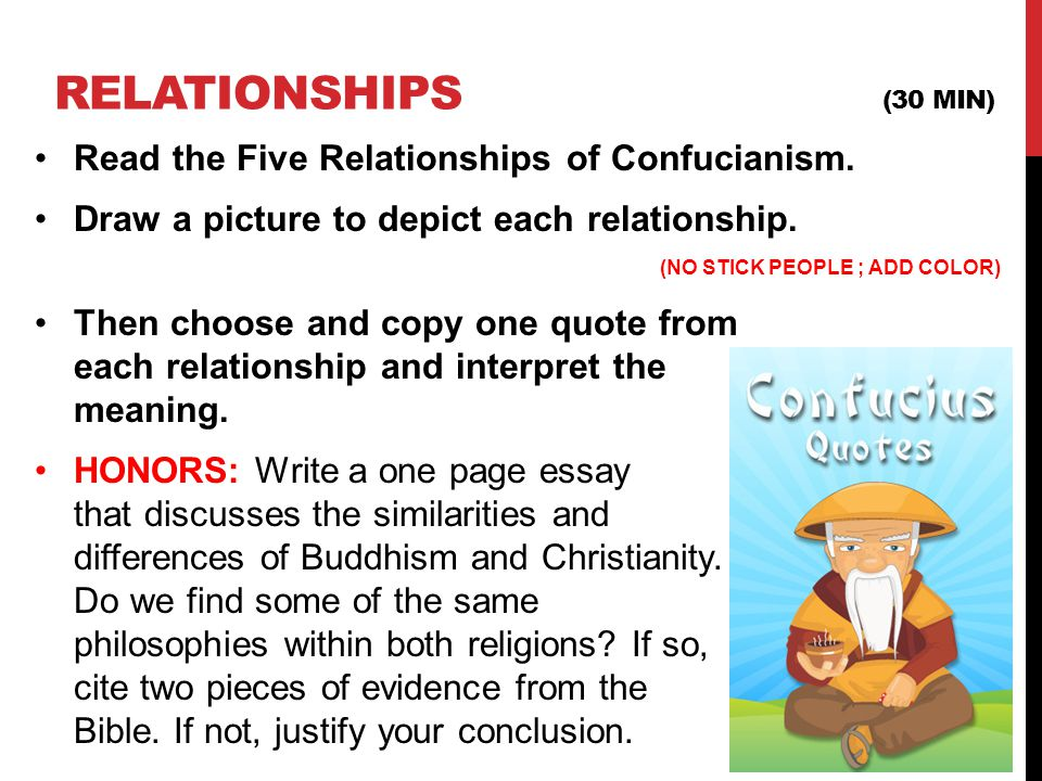 thematic essay on confucianism