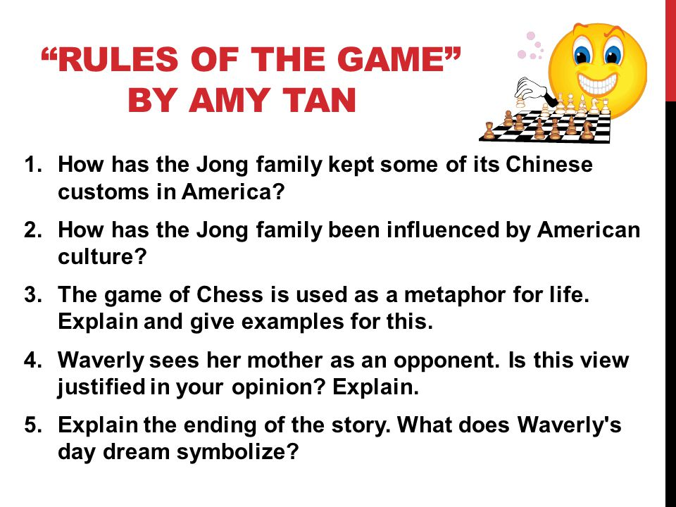 Rules of the game essay amy tan