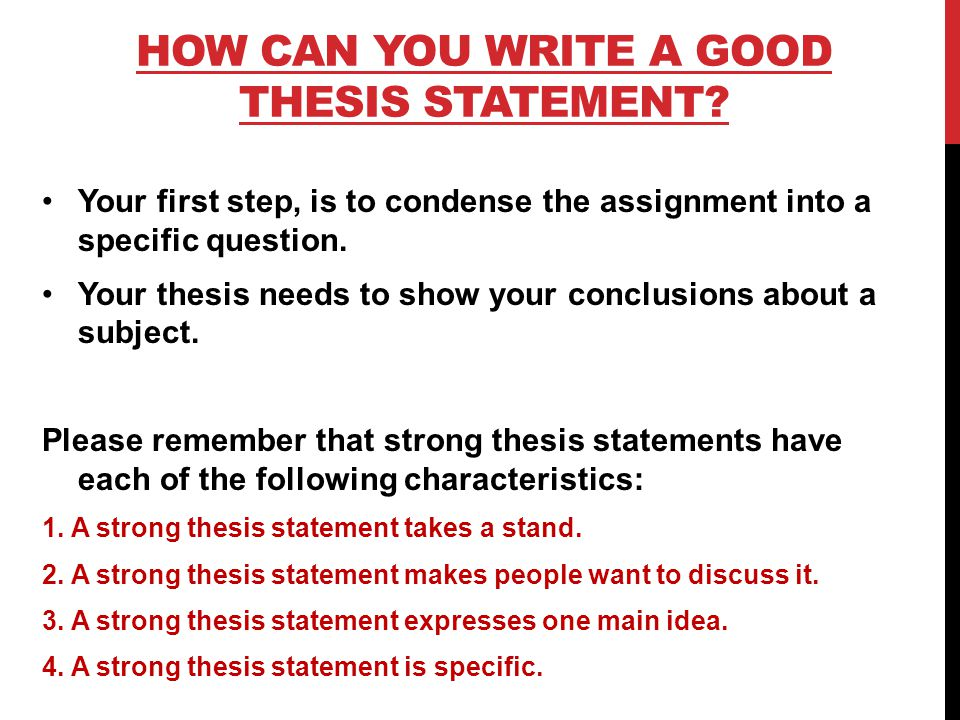 Thesis Characteristics
