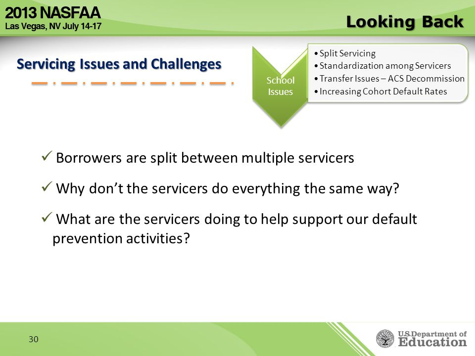 Servicing Issues and Challenges