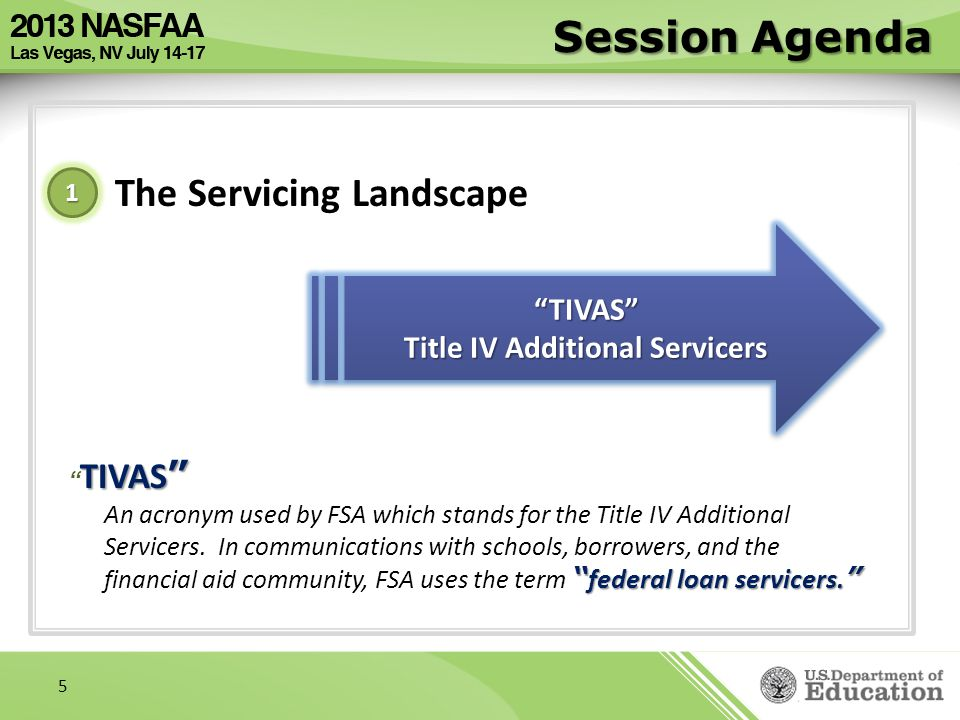Title IV Additional Servicers