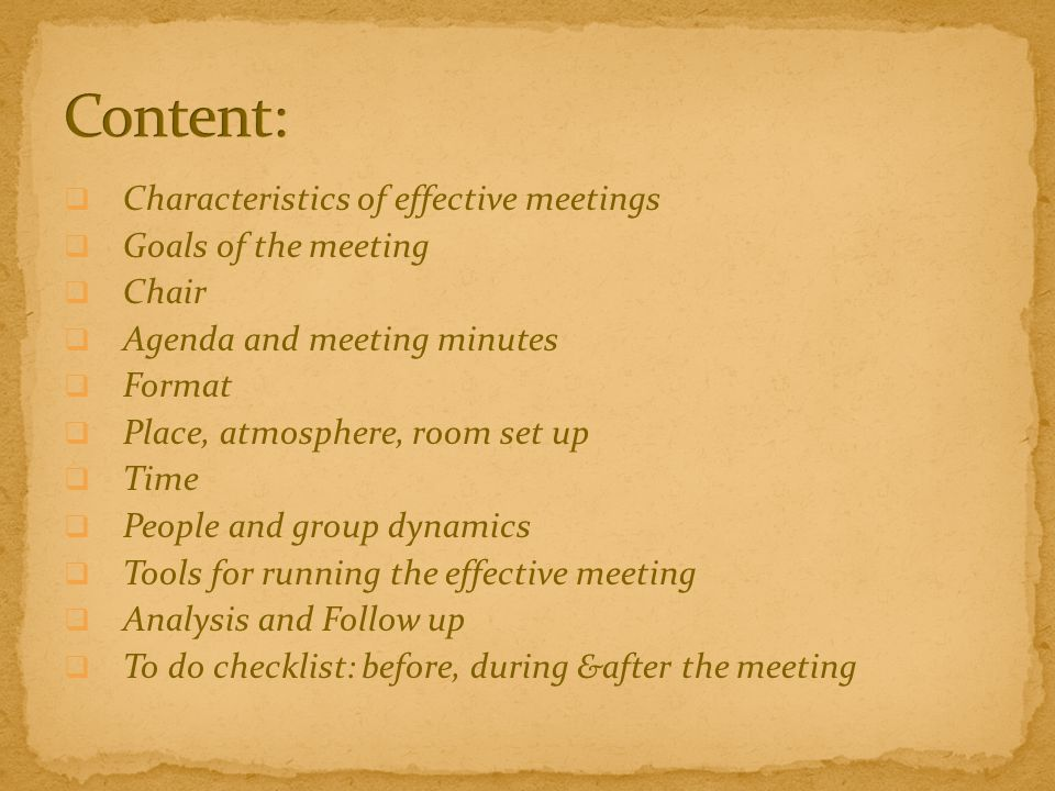 an analysis of the effective group presentations and goals The department is currently researching the most effective and valuable ways to assessment and analysis of goals workshop powerpoint presentation.