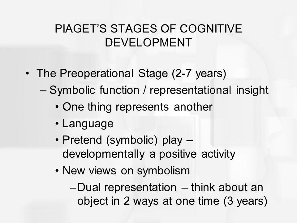 the stages of cognitive development from the piagetian point of view Cognitive development: overview  b piaget also defined 4 stages of cognitive development:  he can now take other people's point of view.