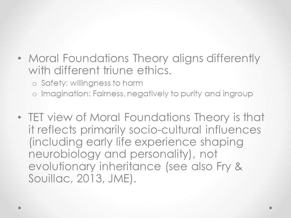 alligning theorists with foundations of early Three levels of intersubjectivity in early development philippe rochat 1, cláudia passos-ferreira 2, pedro salem 3 abstract the sense of shared values is a specifi c aspect to human sociality.