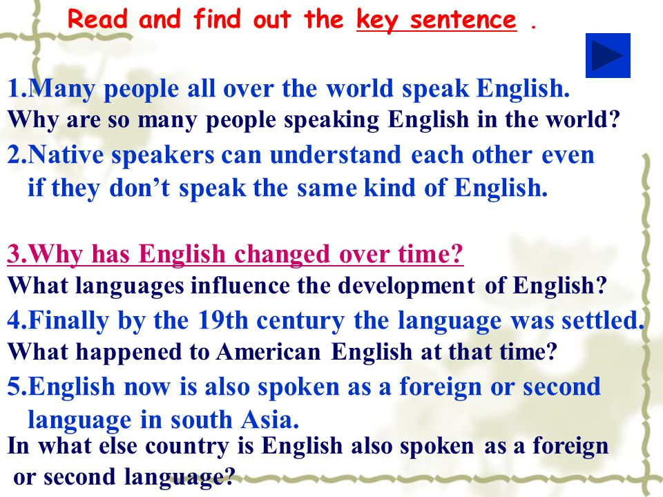English Around The World Ppt Video Online Download - How many people speak each language
