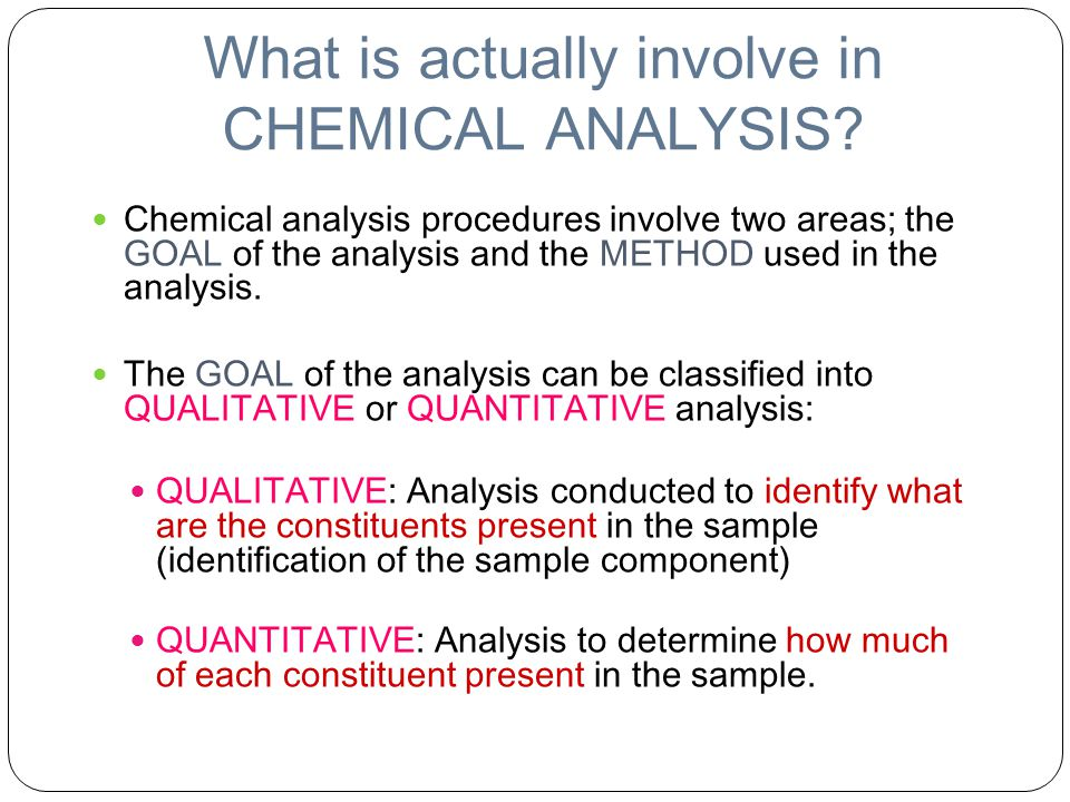 Quantitative Analysis Chemistry Image Gallery - Hcpr