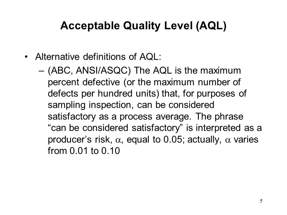 An AQL System For Lot-By-Lot Acceptance Sampling By ... | 960 x 720 jpeg 77kB