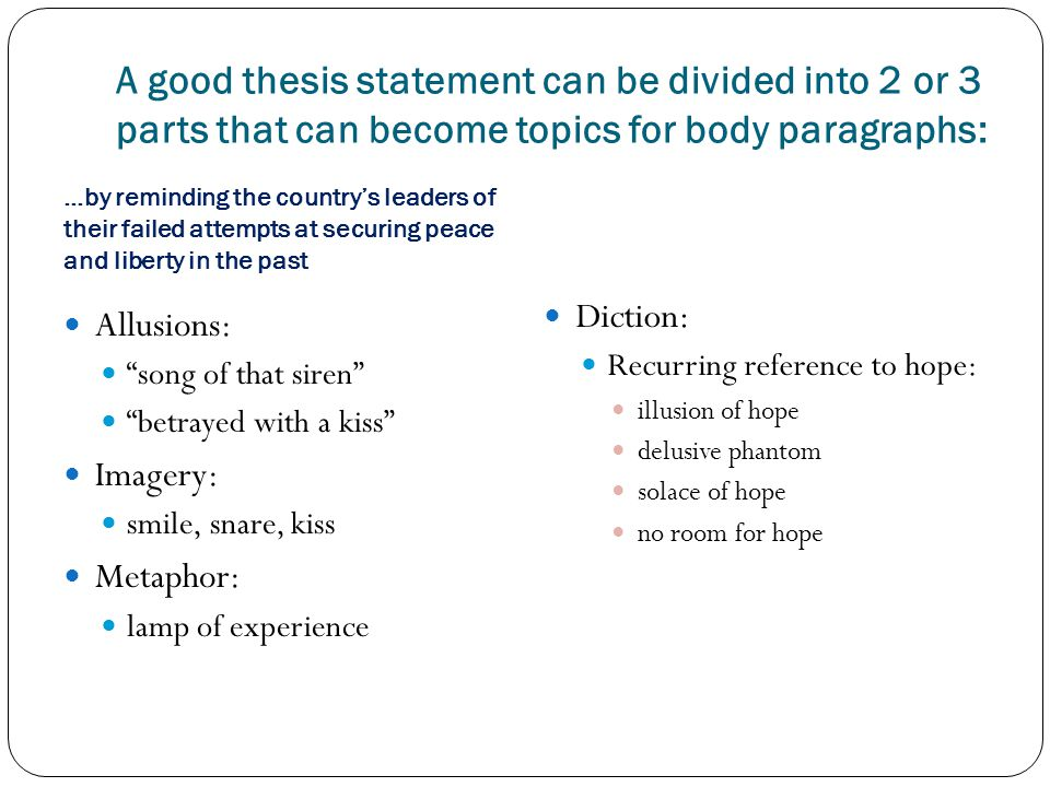 what are the two parts of an effective thesis statement The case of a magazine or journal article, the date of publication and the text ▻ thesis statement: the overall thesis of the text selection is the author's central theme there are several aspects to an effective thesis statement: - it comprises two parts: a) the topic or general subject matter of the text, and b) the author's major.