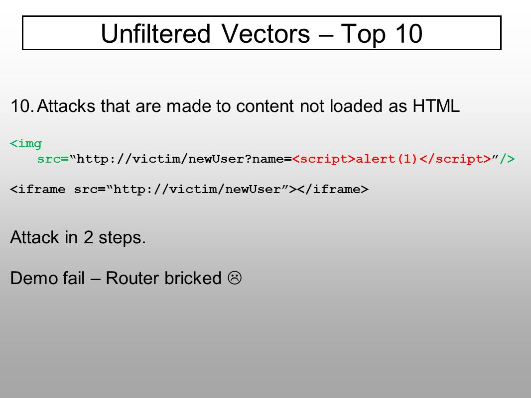 Unfiltered Vectors – Top 10