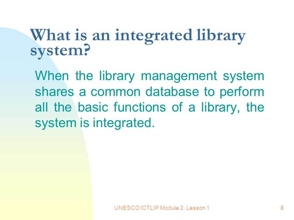 introduction to library management system Library management system project report - the main objective of the library management system project is discipline of the planning, organizing and manag.