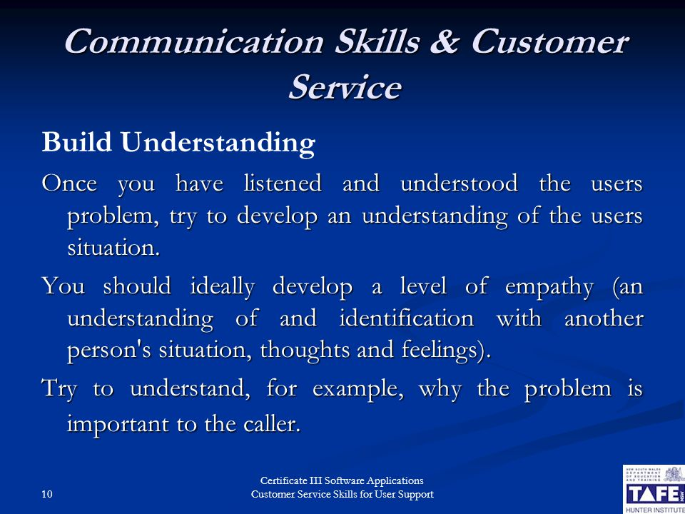 customer service communication skills pdf