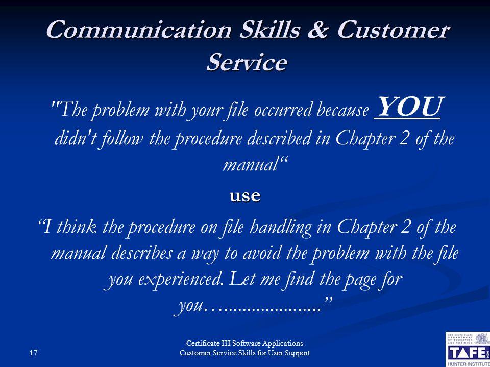 describe customer service skills