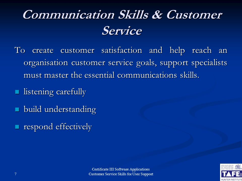 customer service skills for user support ppt video