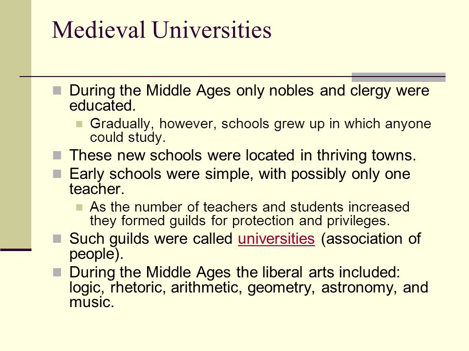 Education/ Medieval And Modern Universities term paper 15366